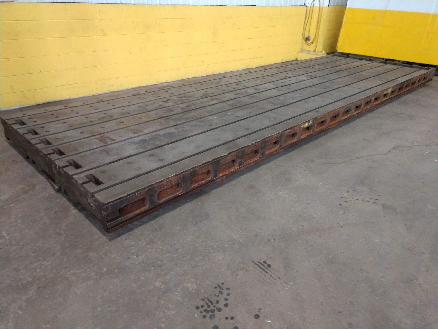 "6.5' (80"") x 22' (264"")  T SLOTTED FLOOR PLATE PLANER TABLE: STOCK 13637"