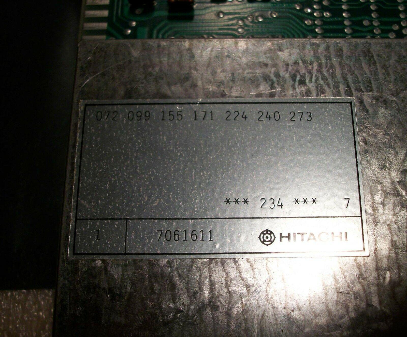 Hitachi Seiki Board # BMU 256-1 A87L-001-0017-11I