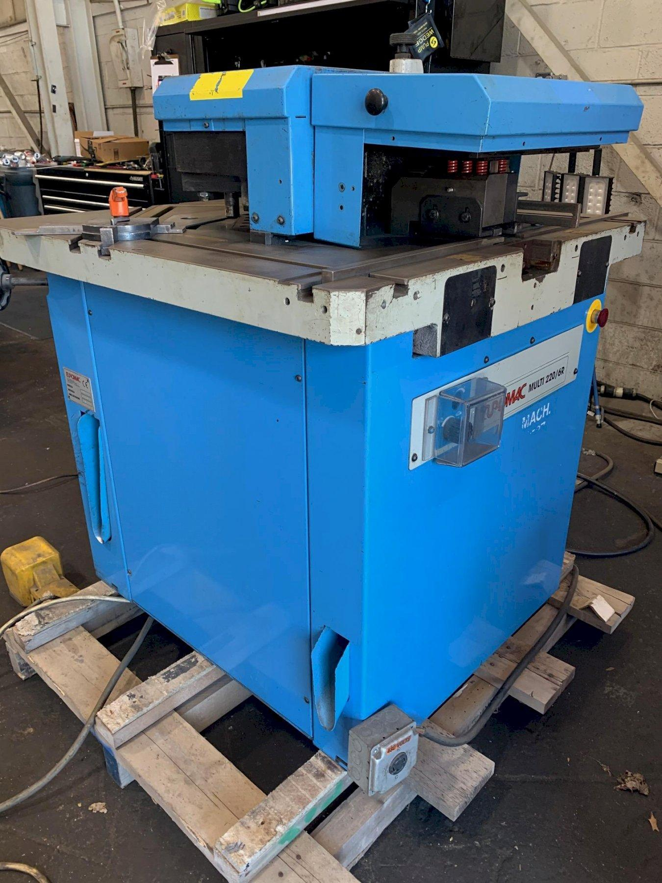USED EUROMAC VARIABLE ANGLE NOTCHER WITH 22 TON PRESS END MODEL 200/6 MULTI, Stock # 10742, Year 1999