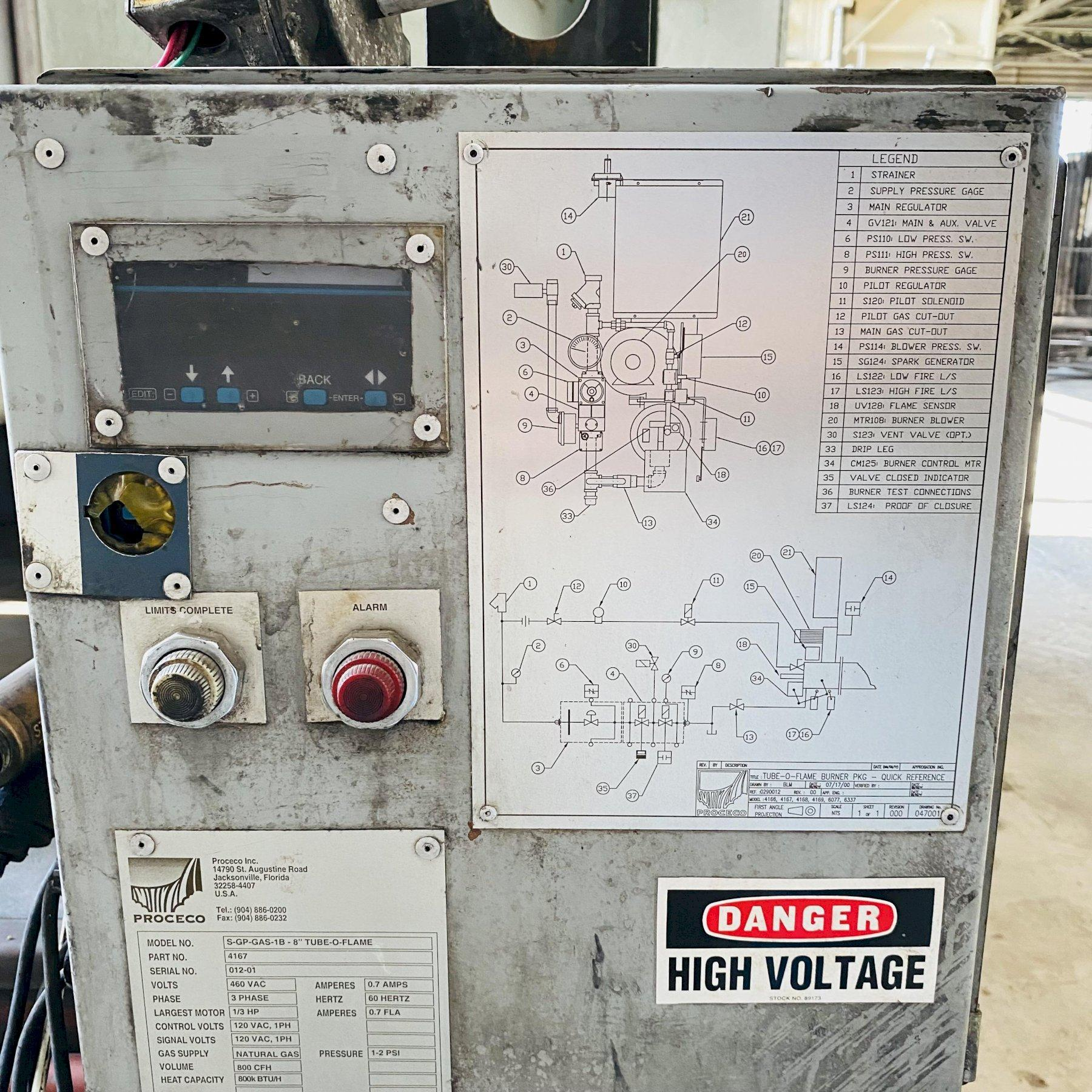 """100"""" PROCECO MODEL #HD-100-48-G-6000 ROTARY TABLE PARTS WASHER. STOCK # 0524021"""
