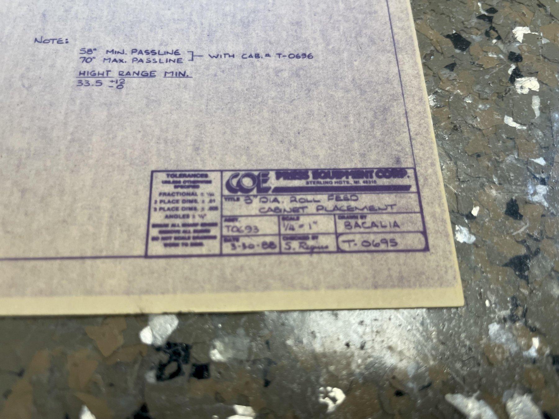 "15,000 LB X 24"" X .210"" COE SERVO FEED-LINE. STOCK # 0636121"