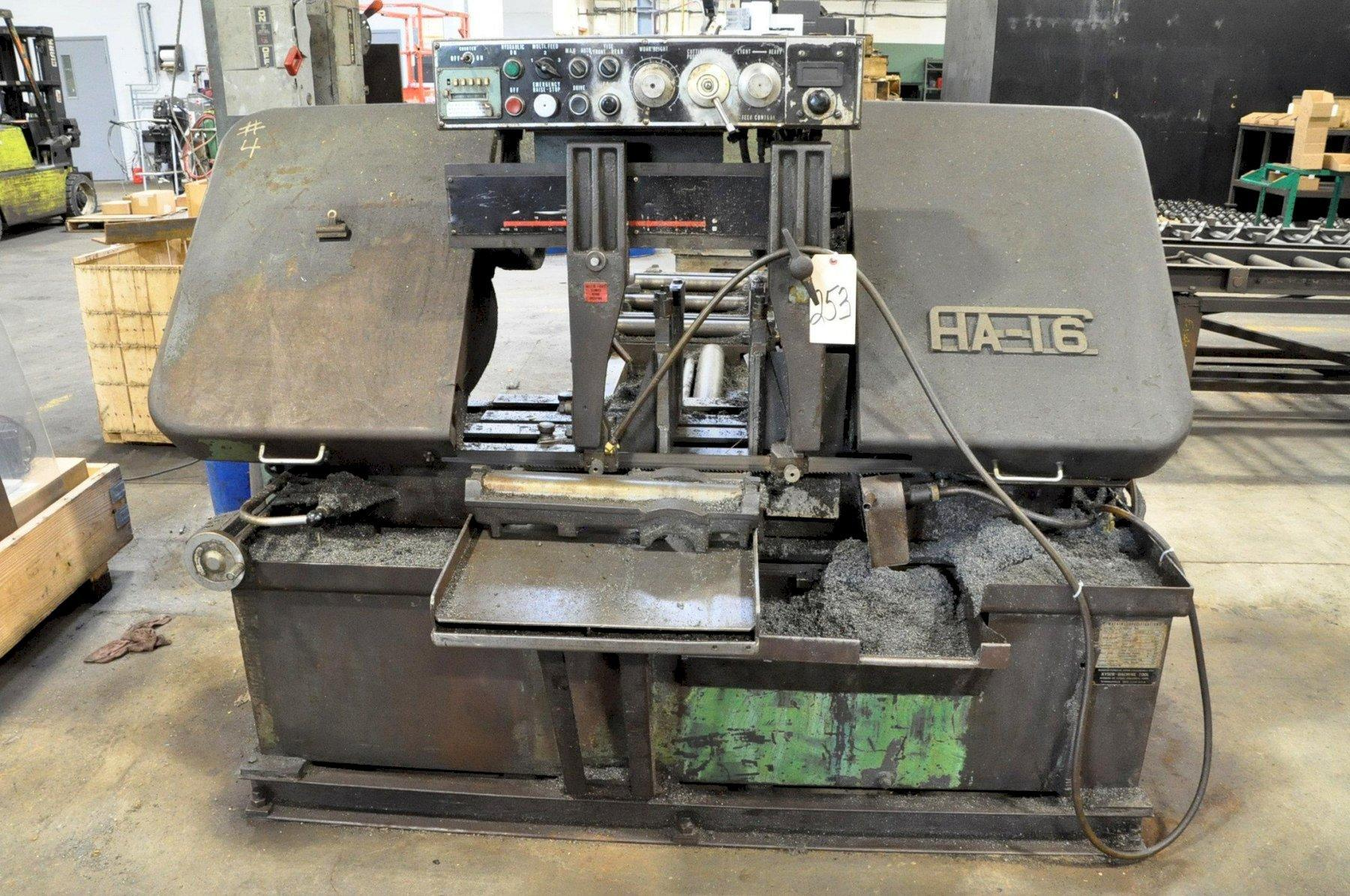 "18"" X 16"" KYSOR-JOHNSON HA-16 AUTOMATIC HORIZONTAL BANDSAW. STOCK # 1056520"