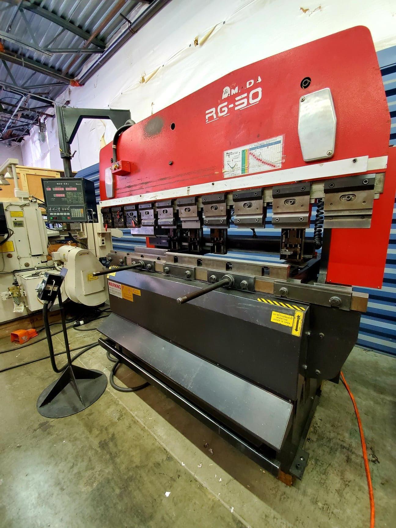 1995 Amada RG50, 6' x 55 Ton, NC9EX-II CNC Controls