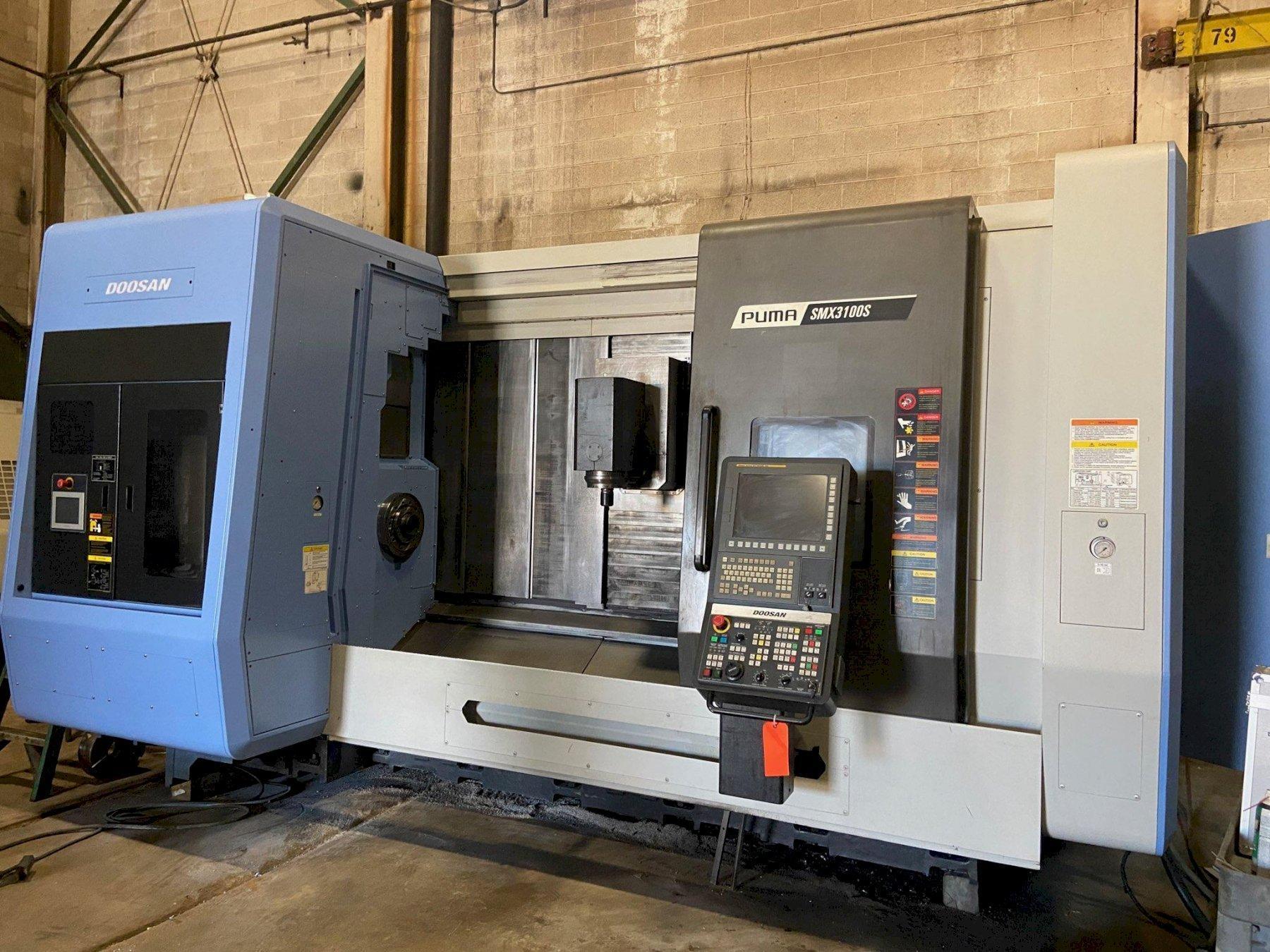 Doosan Puma SMX3100S 7-Axis CNC Lathe, Fanuc 31i, 12