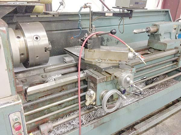 """20"""" x 80"""" VICTOR Engine Lathe, Model 2080S, 20' Swing over Bed, 11-1/2"""" Over Cross Slide, 80"""" Centers , 3-1/8"""" Spindle Bore, Steady Rest, Threading, New 1986."""