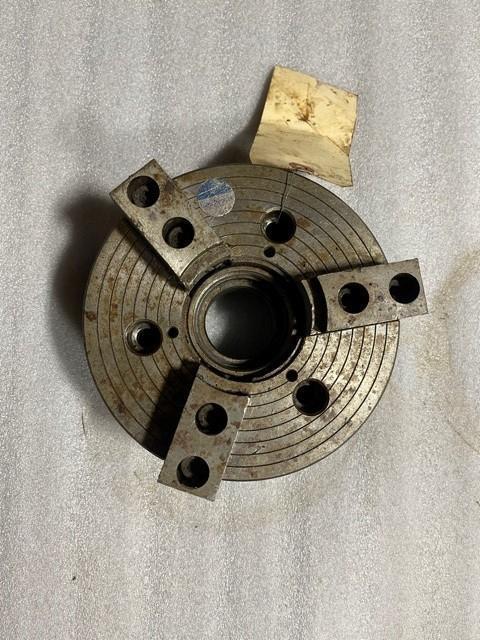 "6"" Nikko 3-Jaw Used Mdl Rear Act Hydraulic S/N 651879"