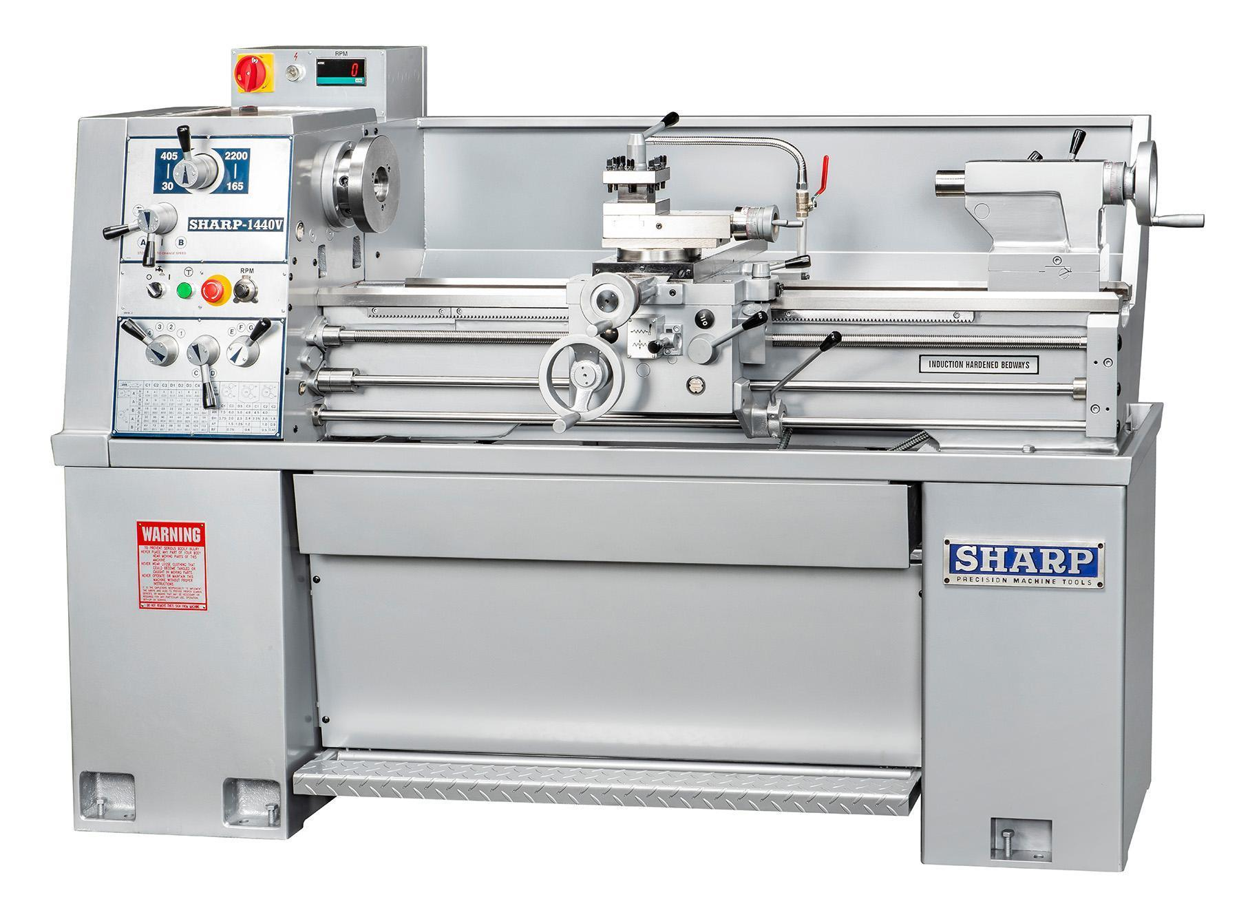 NEW, SHARP MODEL 1440V PRECISION LATHE