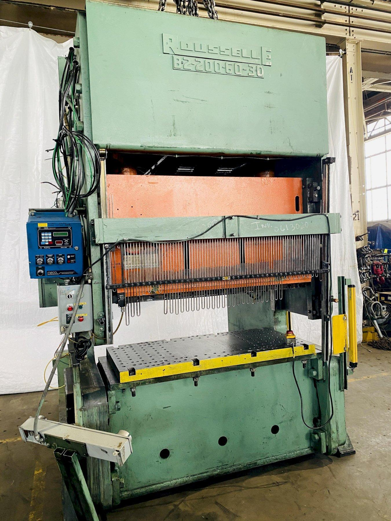 200 TON ROUSSELLE B2-200 DOUBLE CRANK OBI PRESS. STOCK # 0613020