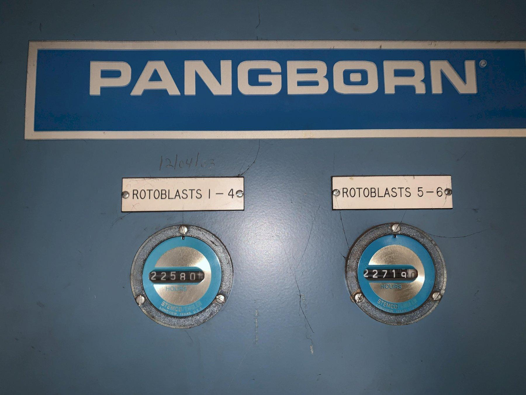 "162"" WIDE X 6 WHEEL PANGBORN ROTOBLAST MODEL #ES-1923 TOP & BOTTOM PLATE BLAST CLEANING SYSTEM. STOCK # 1057220"