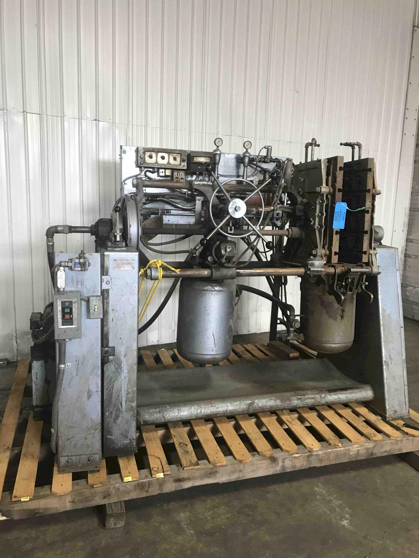 Dependable model 400sa shell core machine s/n 198 with gas panel, nice machine