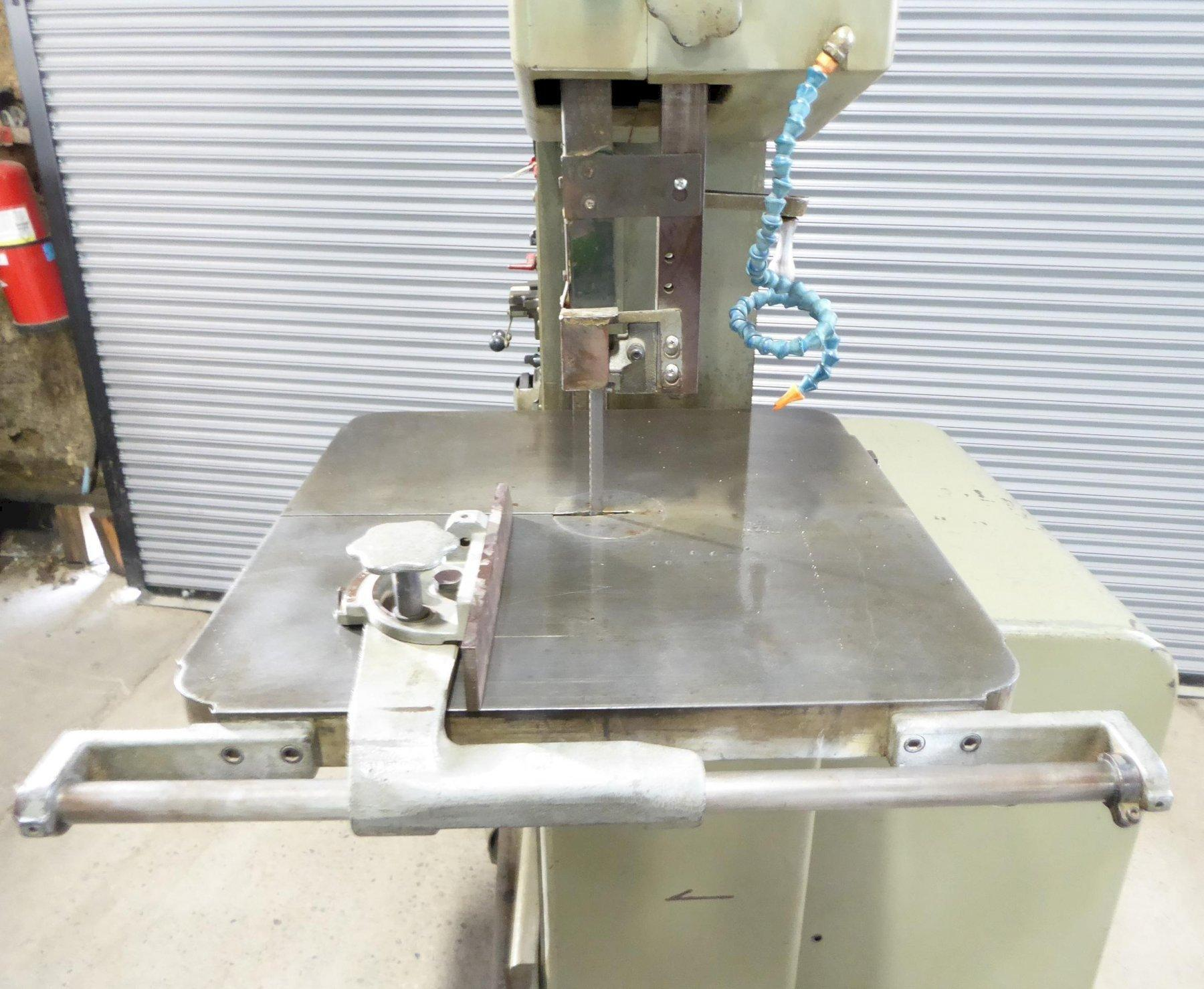 "16"" DoAll Vertical Band Saw No. 1612-0, 12"" Maximum Height, 50-5200 FPM, 24"" x 24"" Tbl., Clean"