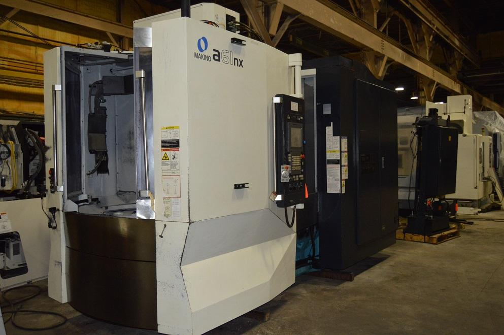 "Makino A61NX CNC Horizontal Machining Center, Pro 5 Control, 29""/26""/32"" Travel, 14K Spindle, Full 4th Axis, Hyd Clamping, CTS, 60 ATC. New Spindle ('19), C/C, 2011 (3 Available)"