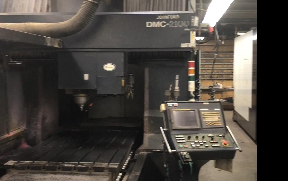 JOHNFORD DMC 2100 BRIDGE STYLE CNC VERTICAL MACHINING CENTER