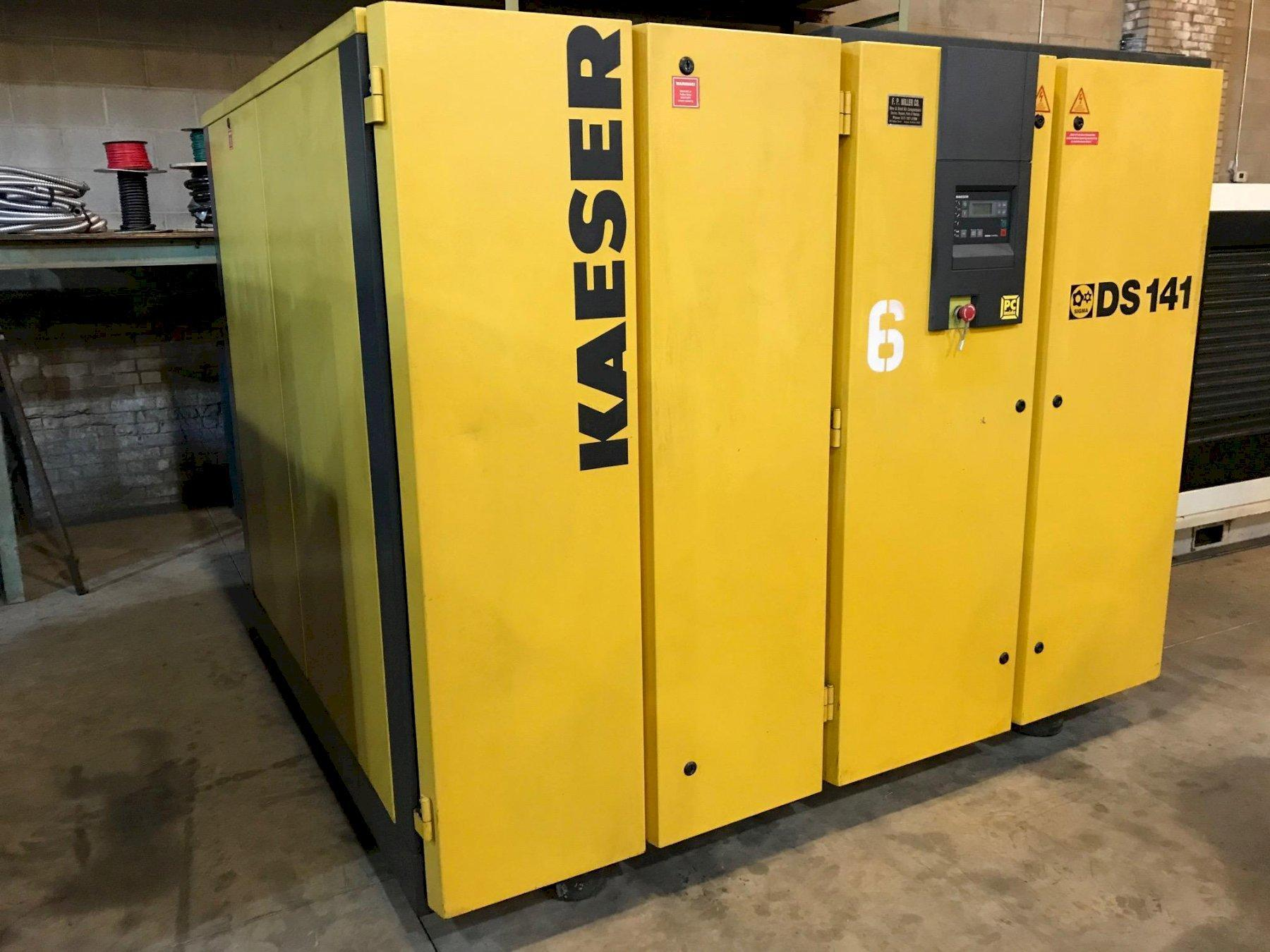 Kaeser 100 Hp Rotary screw air compressor, Rebuilt air-end