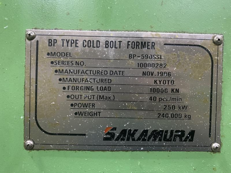 50mm Sakamura Model BP-590SSL Long Stroke Parts Former
