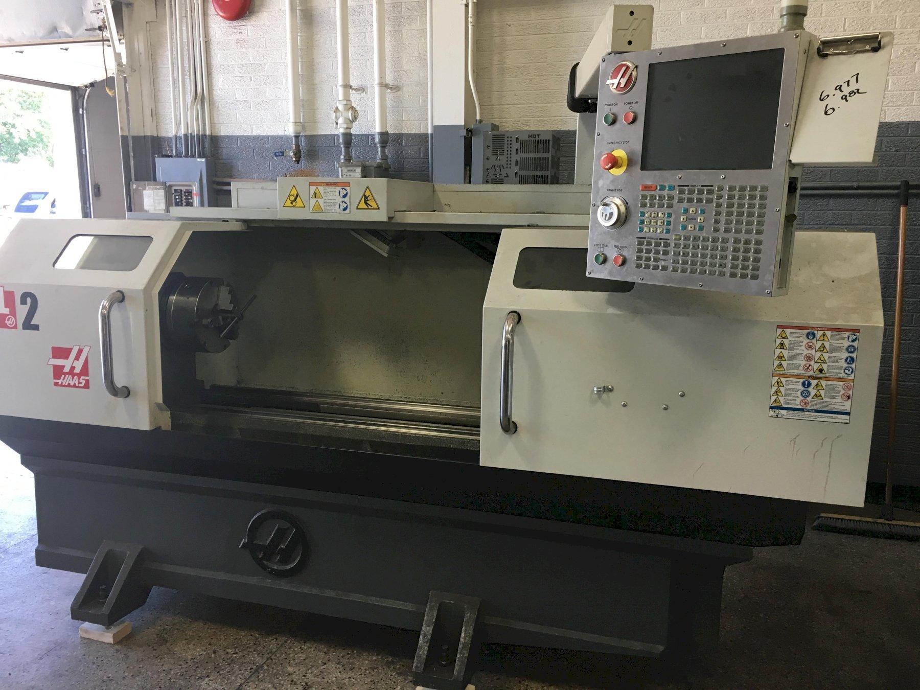Haas TL2 Big Bore CNC Flat Bed Lathe, S/N 3101663, New 2015.
