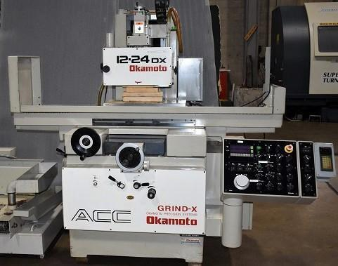 """12"""" x 24"""" OKAMOTO, Model ACC12.24DX, 12"""" x 24"""" Electro-Magnetic Chuck, 3-Axis Auto Movements, Spark Out, 12"""" Wheel, New 1997."""