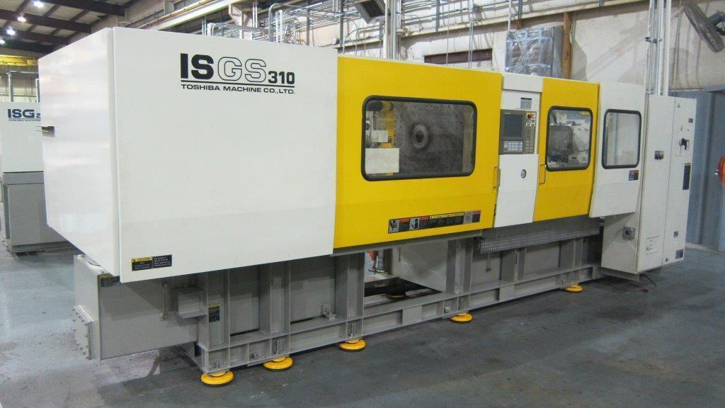 Toshiba ISGS310W Used Injection Molding Machine, Yr 2005, 41 oz