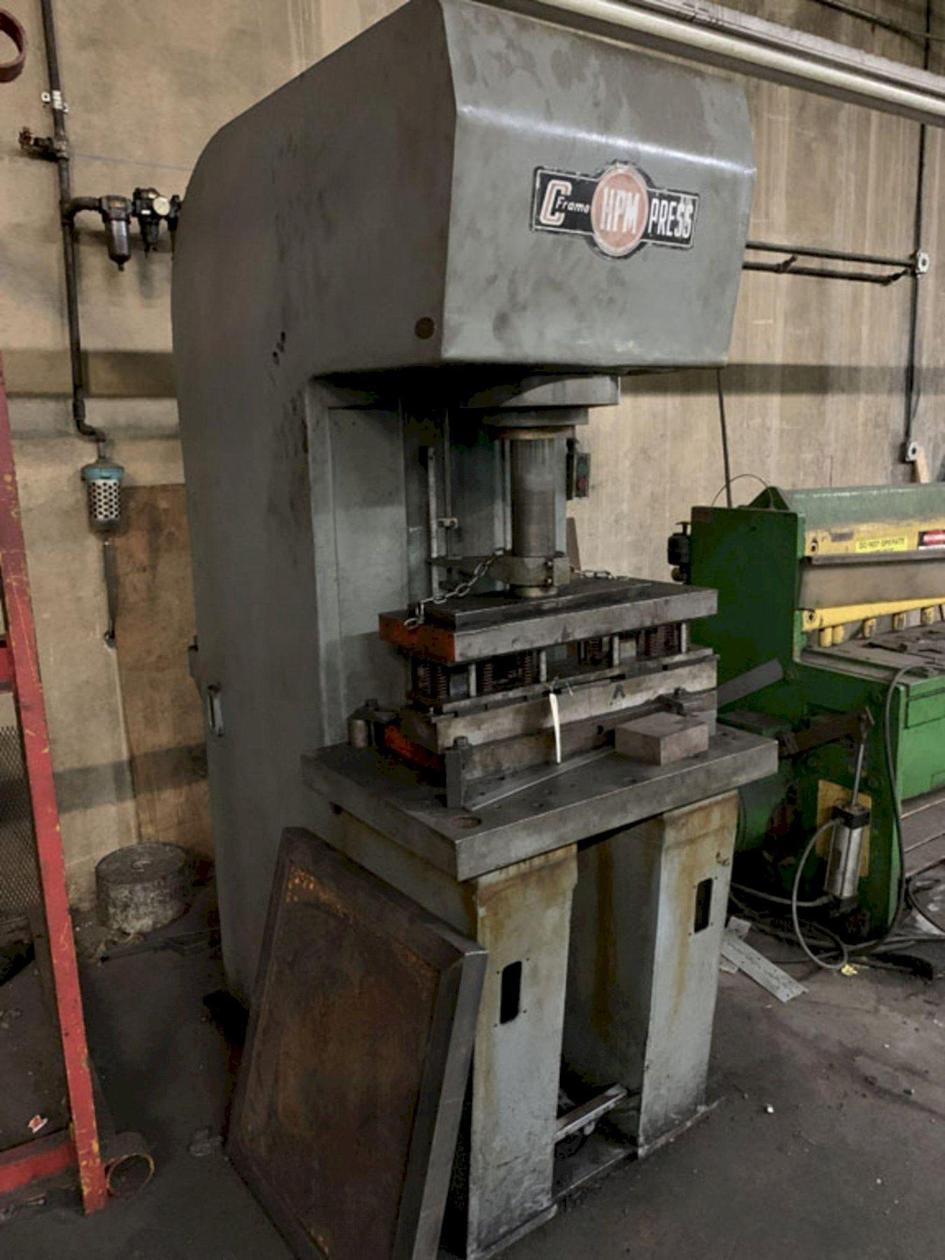 15 TON HPM C-15 C FRAME HYDRAULIC PRESS. STOCK # 0732320