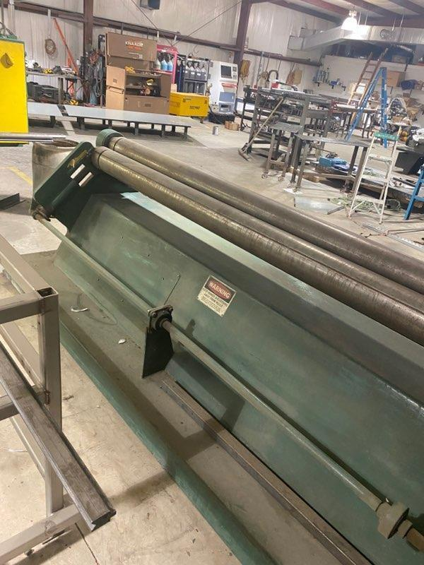 """12 GA x 120"""" WYSONG D-120 3 ROLL PLATE ROLL. STOCK # 0104921"""