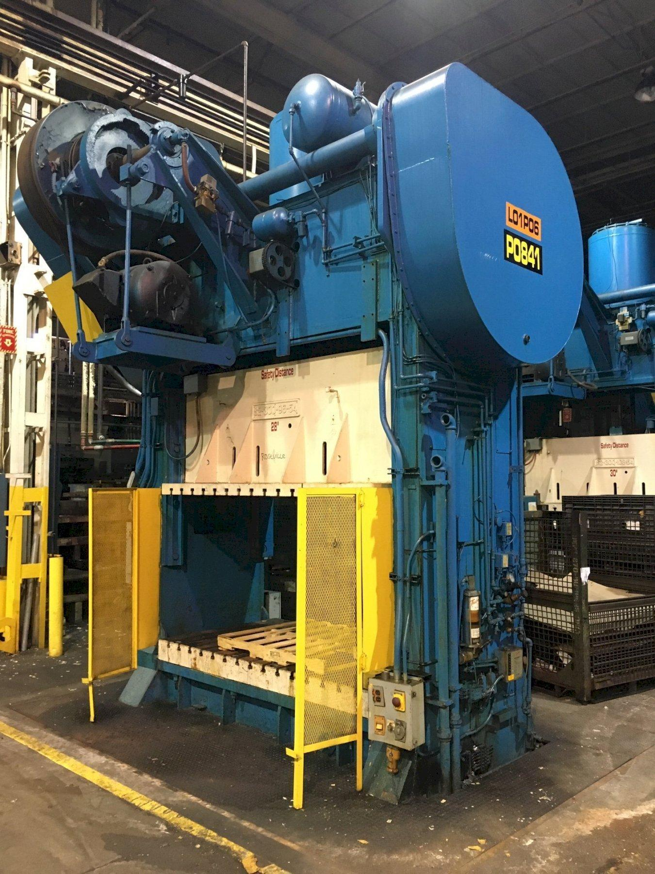 300 Ton CLEARING S2-300-108-54 Straight Side Press