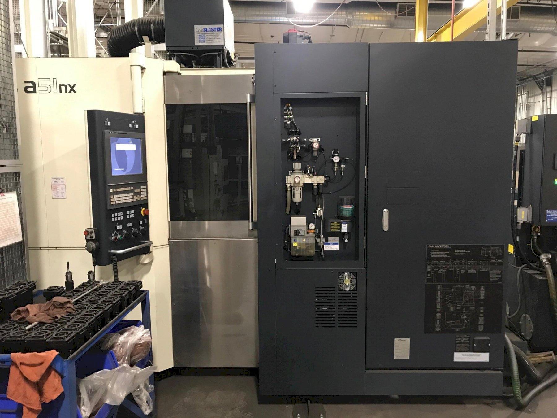 Makino a51nx Horizontal Machining Center with 66 Station Makino MMC2