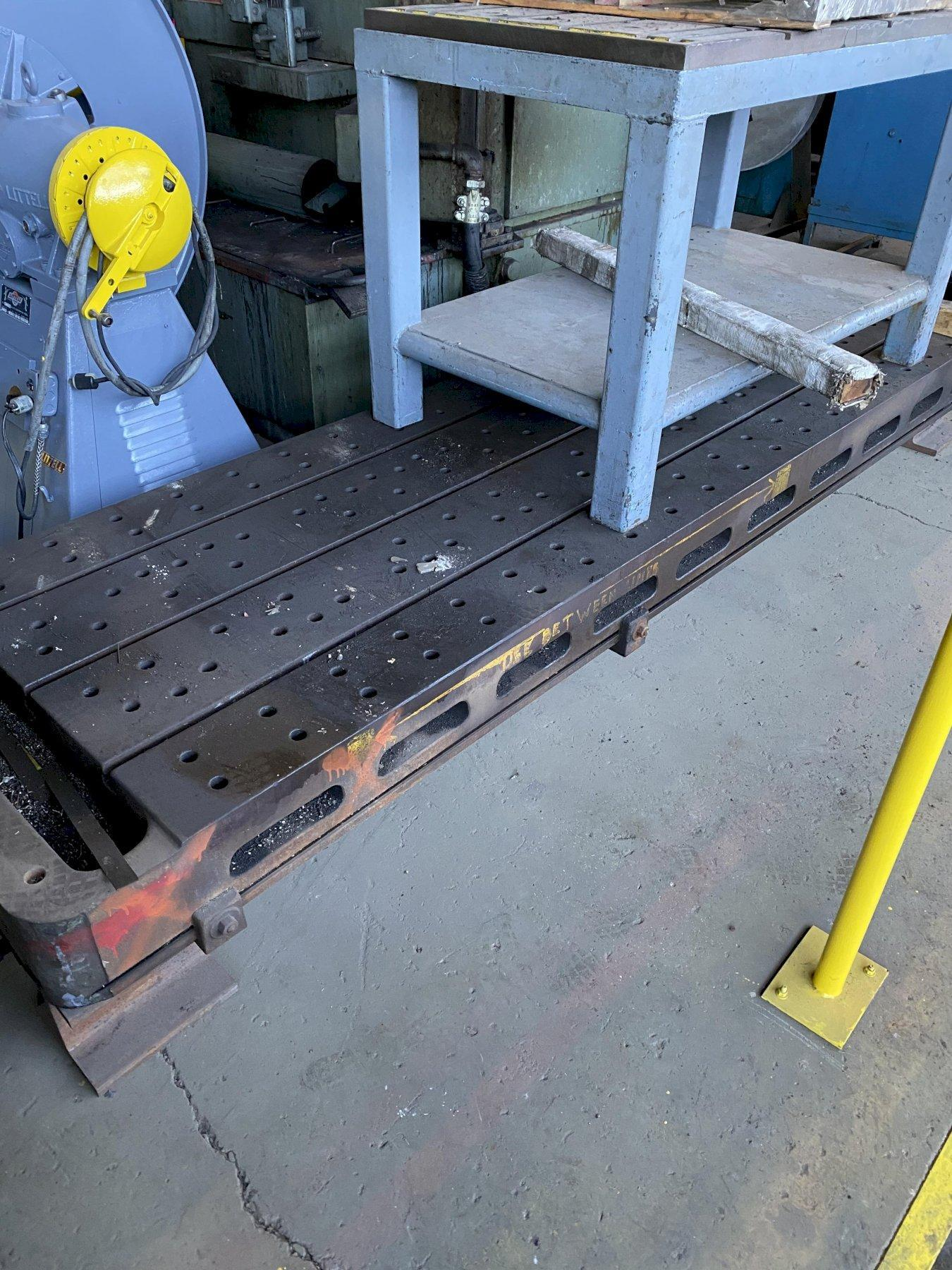 "38"" x 122"" x 8.5"" T-SLOTTED FLOOR PLATE. STOCK # 1161420"