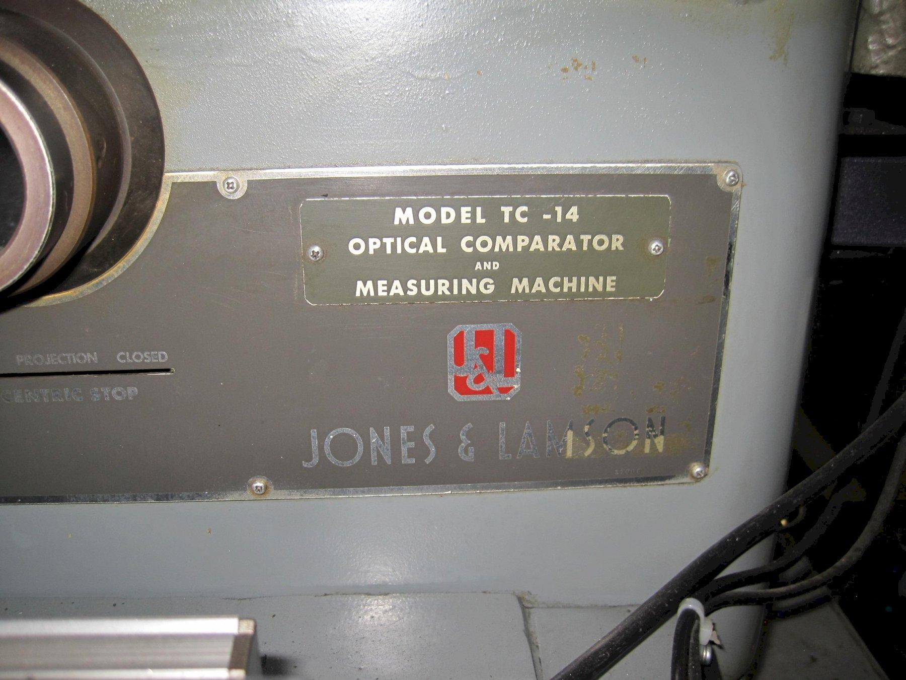 Jones & Lamson TC-14 Optical Comparitor