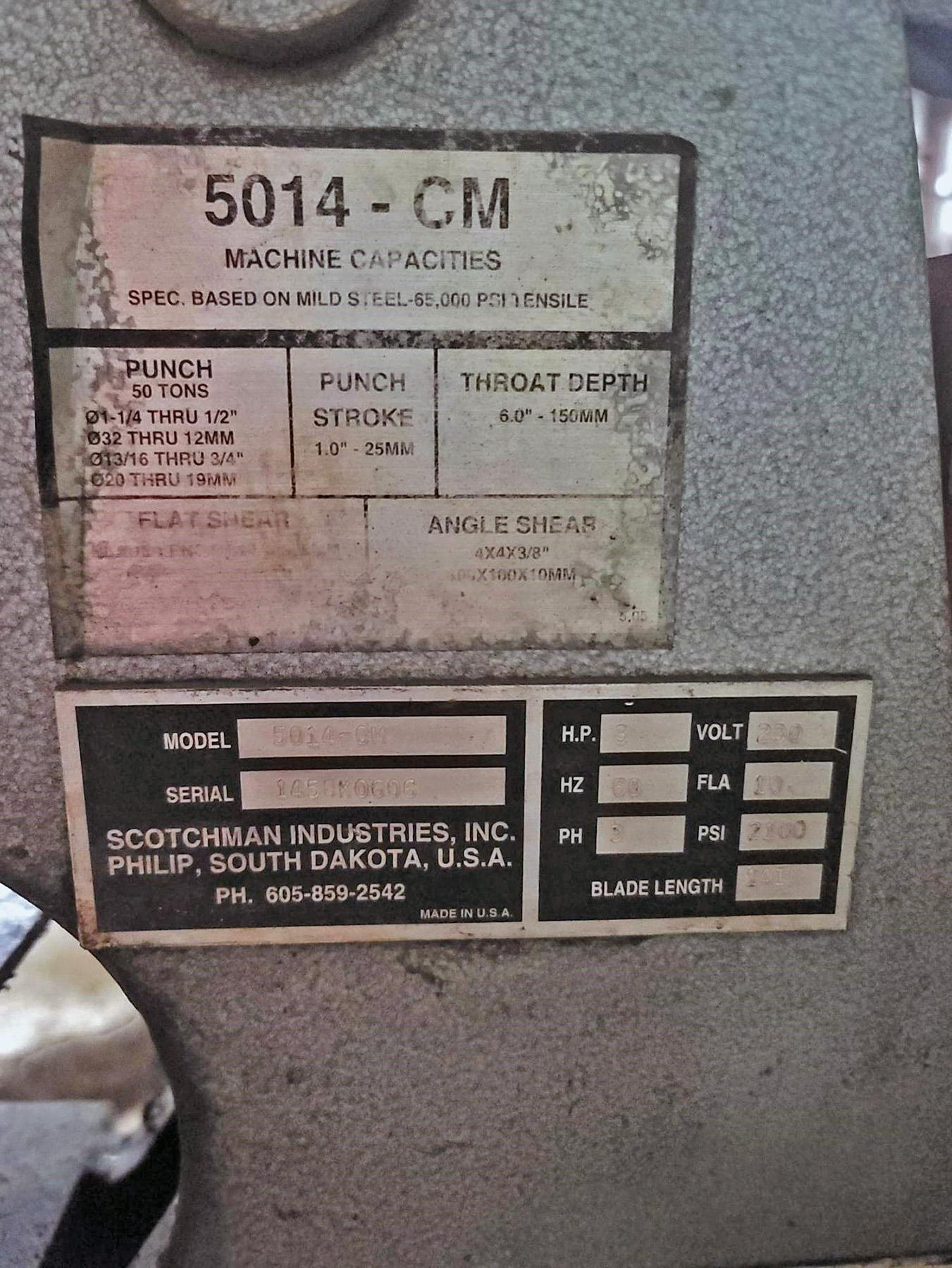 USED, 50 TON SCOTCHMAN MODEL 5014-CM IRONWORKER