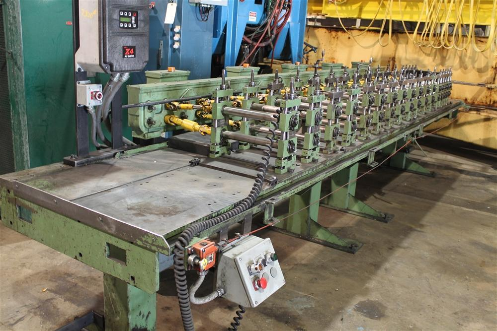 """28/30 STAND X 1.5"""" DREISTERN RAFTED TYPE U JOINT DRIVE ROLLFORMER: STOCK #12939"""