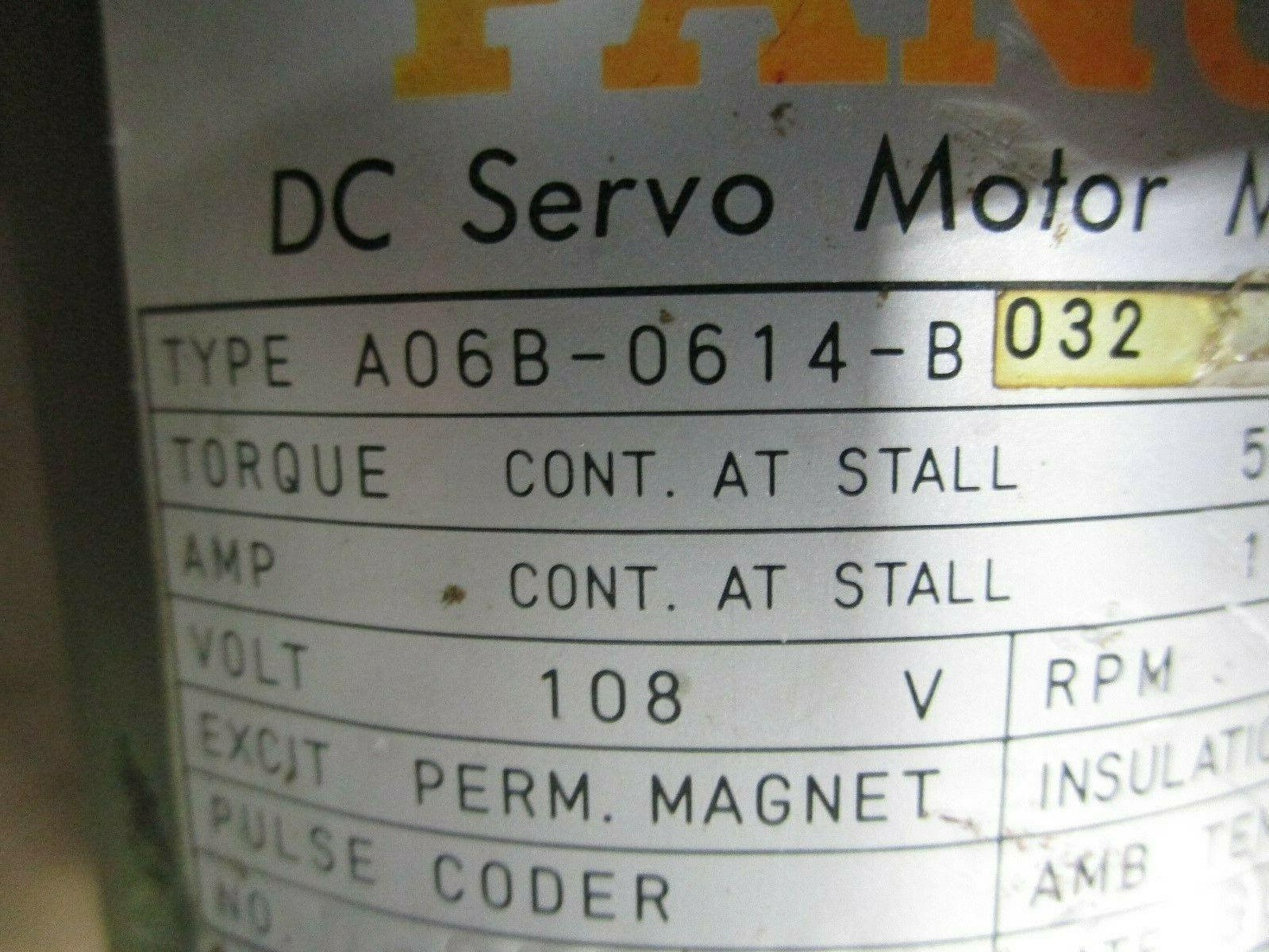 Fanuc DC Servo Motor A06B-0614-B032