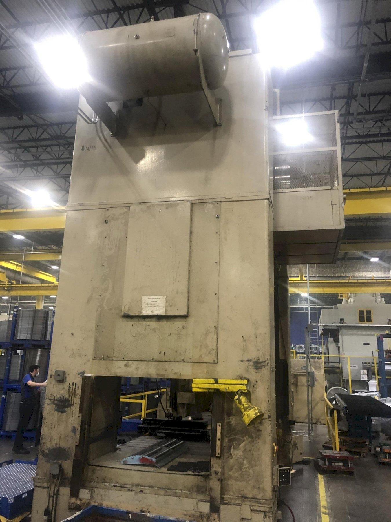 600 ton Bliss SE2-600-144-60 Straight Side Press, New 1997