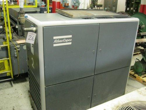 260 CFM, 132 PSI, ATLAS COPCO, #GA 45, 60 HP, New in 2000