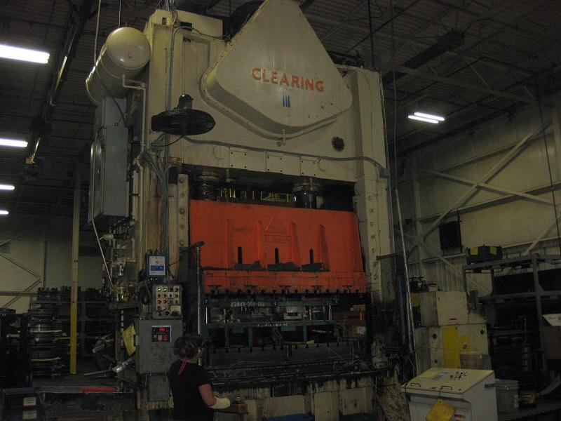 400 Ton Clearing S2-400-96-54 Straight Side Press