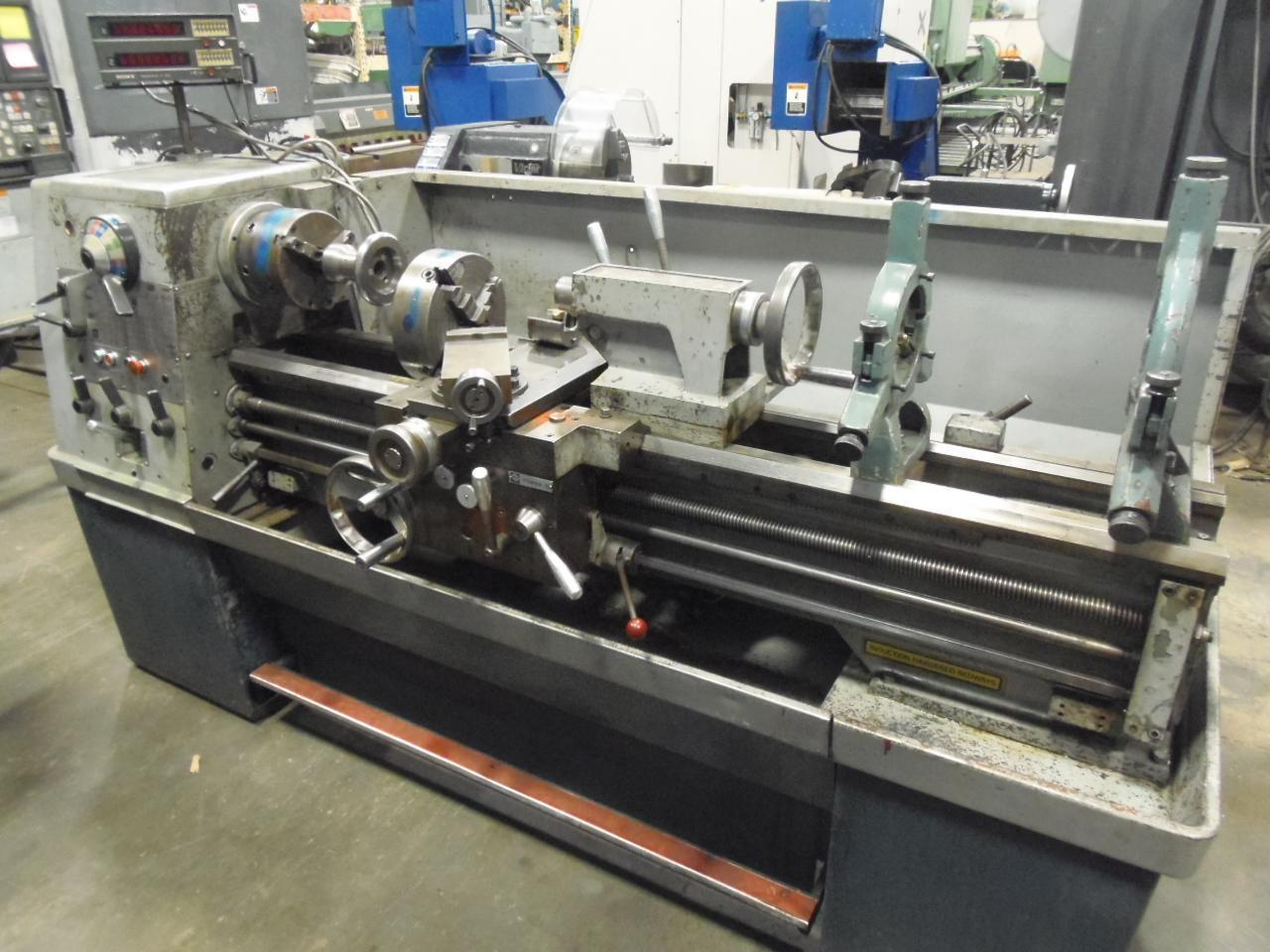 "15"" X 50"" CLAUSING ENGINE LATHE, MODEL 15, SONY D.R.O., 2 STEADIES, 2 CHUCKS, INCH/METRIC"