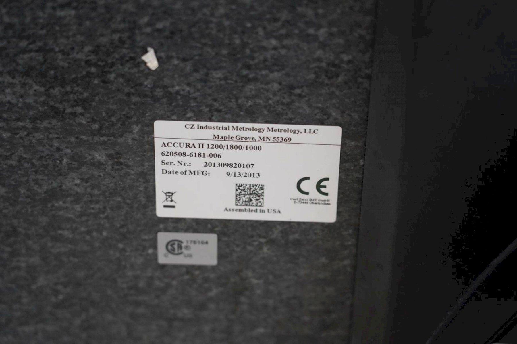 ZEISS2013 Accura II RDS 12/18/10 DCC Coordinate Measuring Machine (CMM)