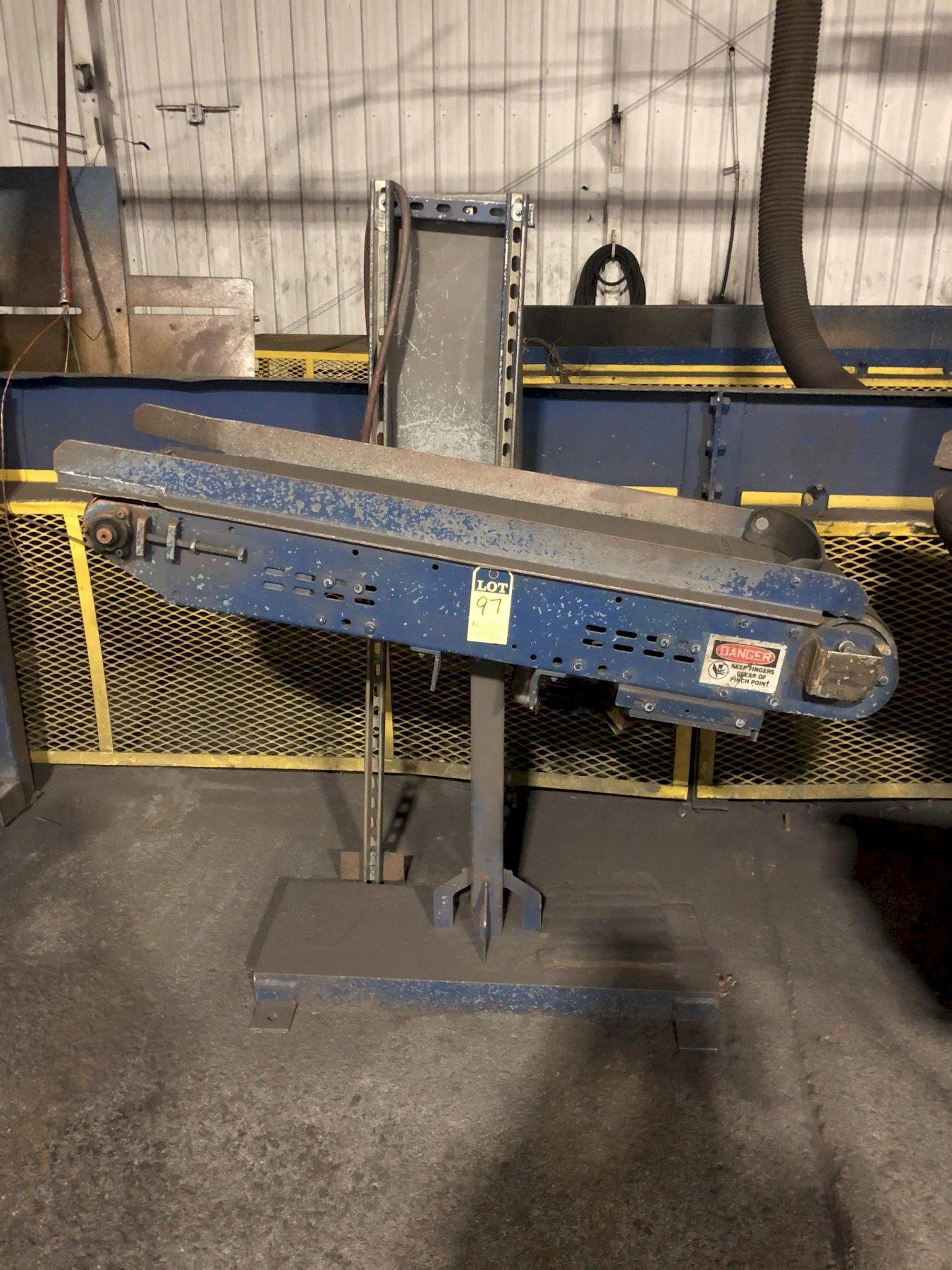 """12"""" X APPROX. 4' BELT CONVEYOR WITH DRIVE"""