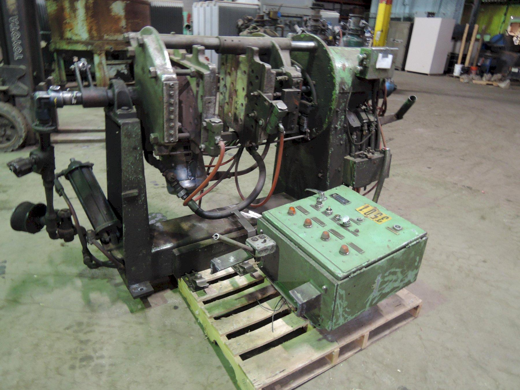 B AND P MODEL SF6CA SHELL CORE MACHINE With A&B  Micro Logix 1000 controls