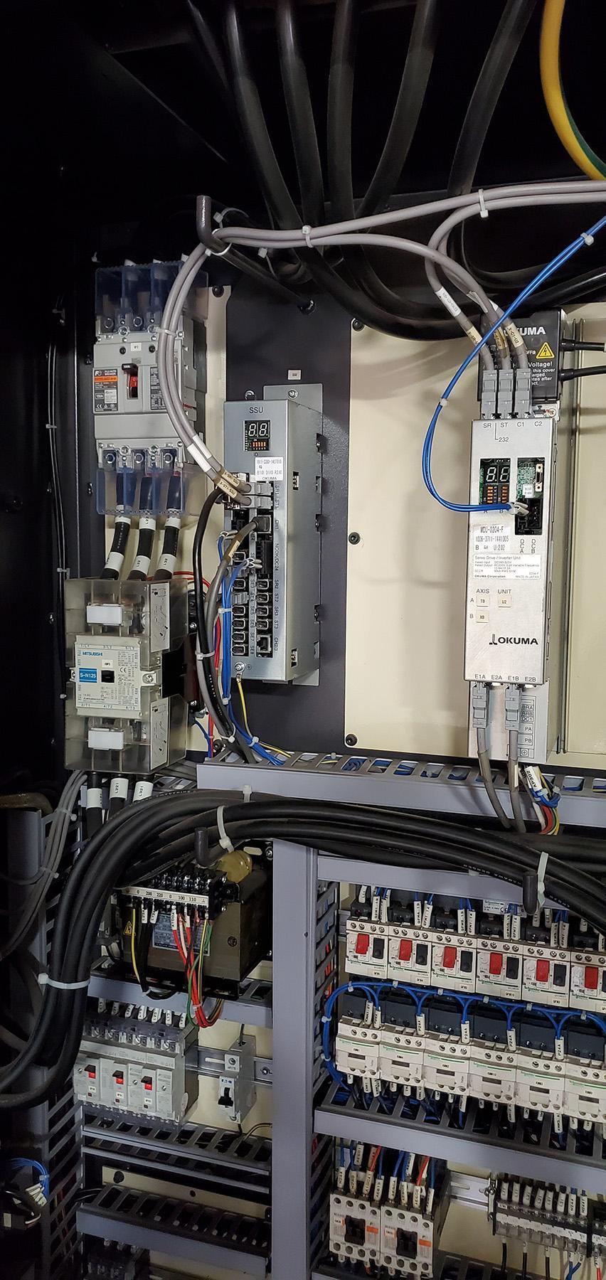 USED, OKUMA LU35-II SUPER BIG BORE FOUR AXIS CNC LATHE