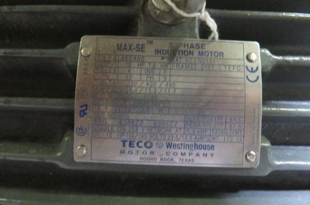 "AEC Used MV1012 Granulator, 11""x11"" Hand; 16"" x 12.5"" Robot, 10hp, 460V"