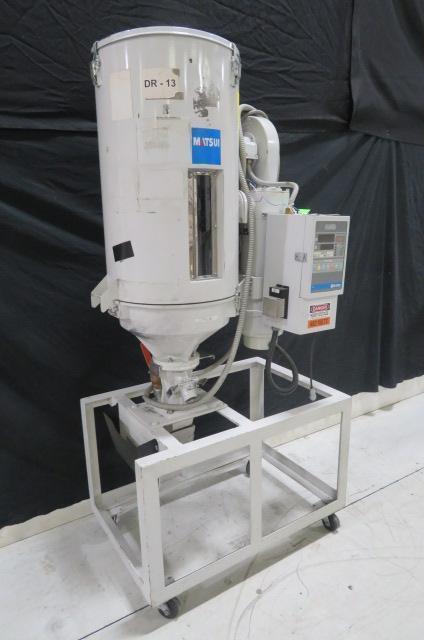 Matsui Used HDII-50-RDH Hot Air Material Dryer, 110 lb capacity, Yr. 2003, 460V