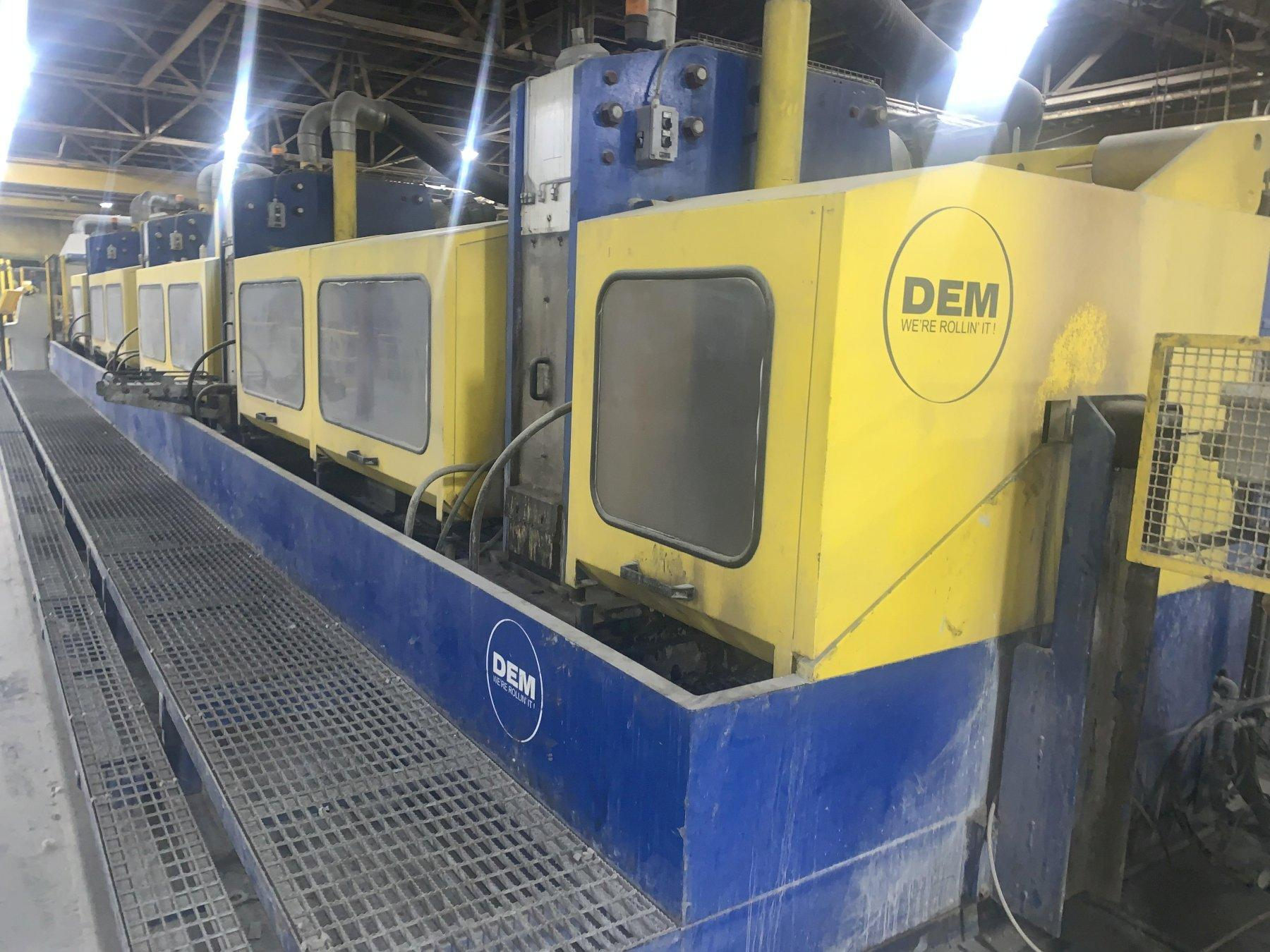 """.512"""" X 12"""" X 4 STAND DEM WIRE FLATENING ROLLING MILL LINE, YEAR 2017: STOCK #13898"""