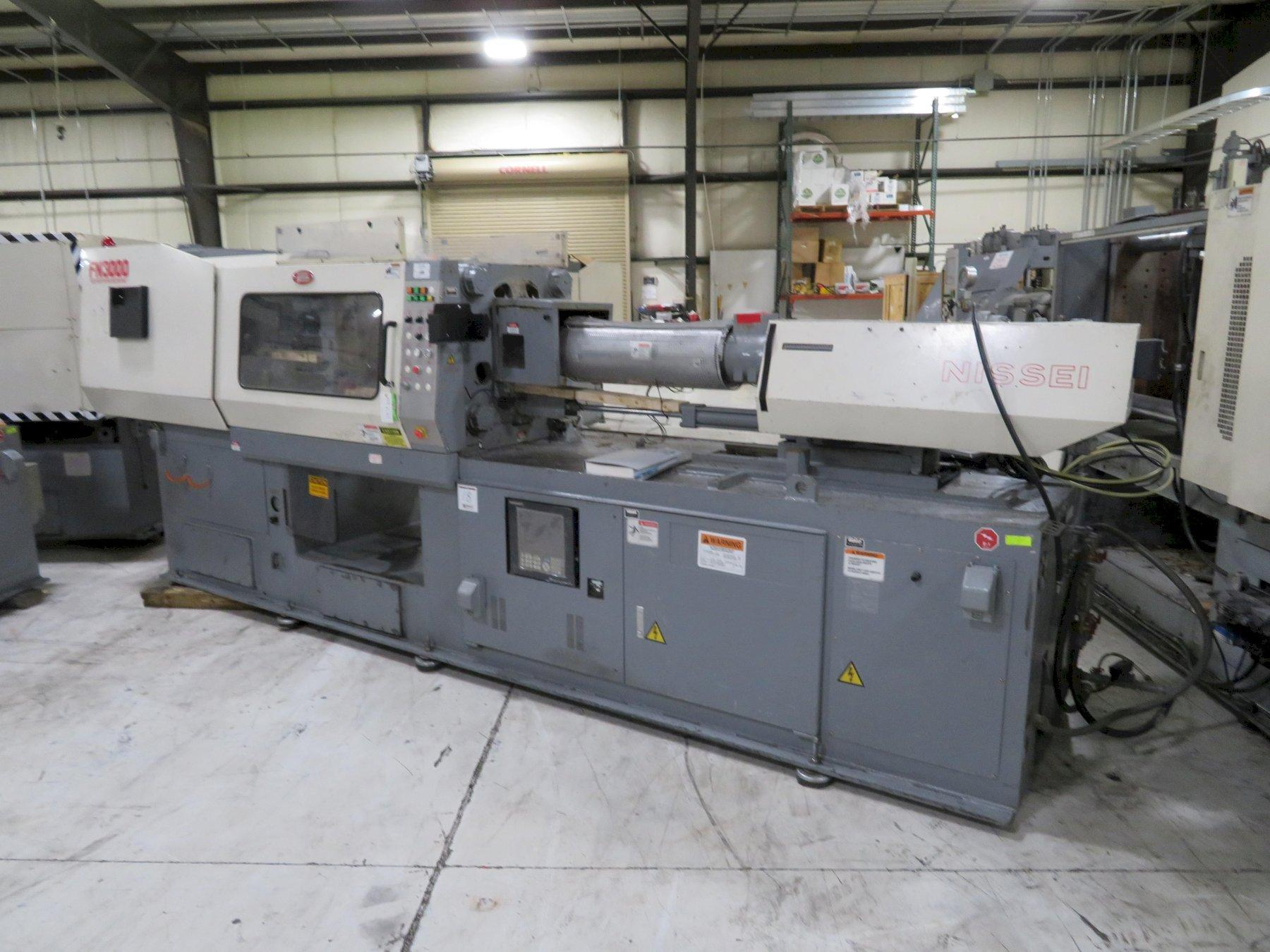 Nissei Used FN3000-25A Injection Molding Machine, 154 US ton, Yr. 2000, 10.5 oz. 460V