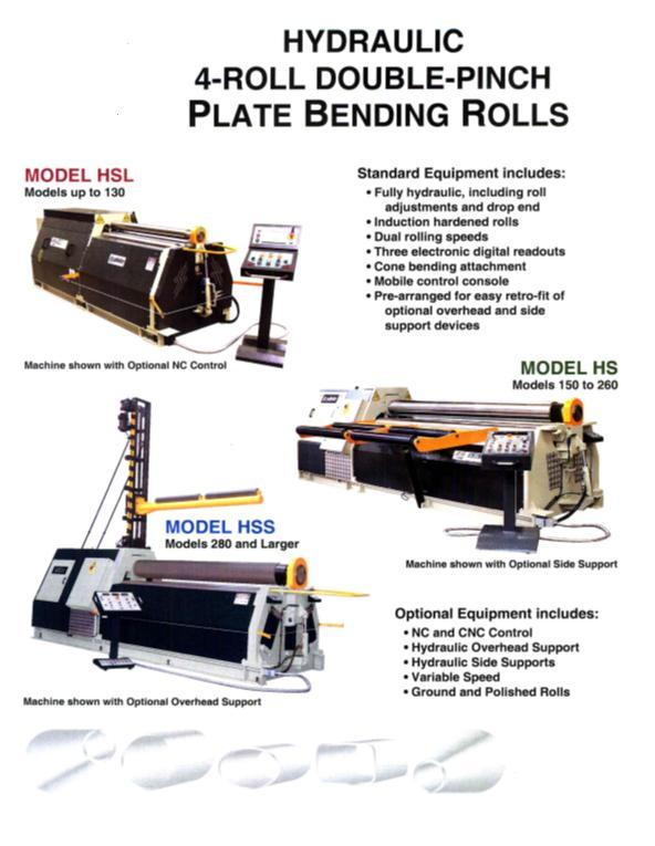 """5/16"""" x 6 ft. New CT-Sahinler Hydraulic Plate Bending Roll, Four-Roll, Double Pinch Model 4R HS 20-190"""