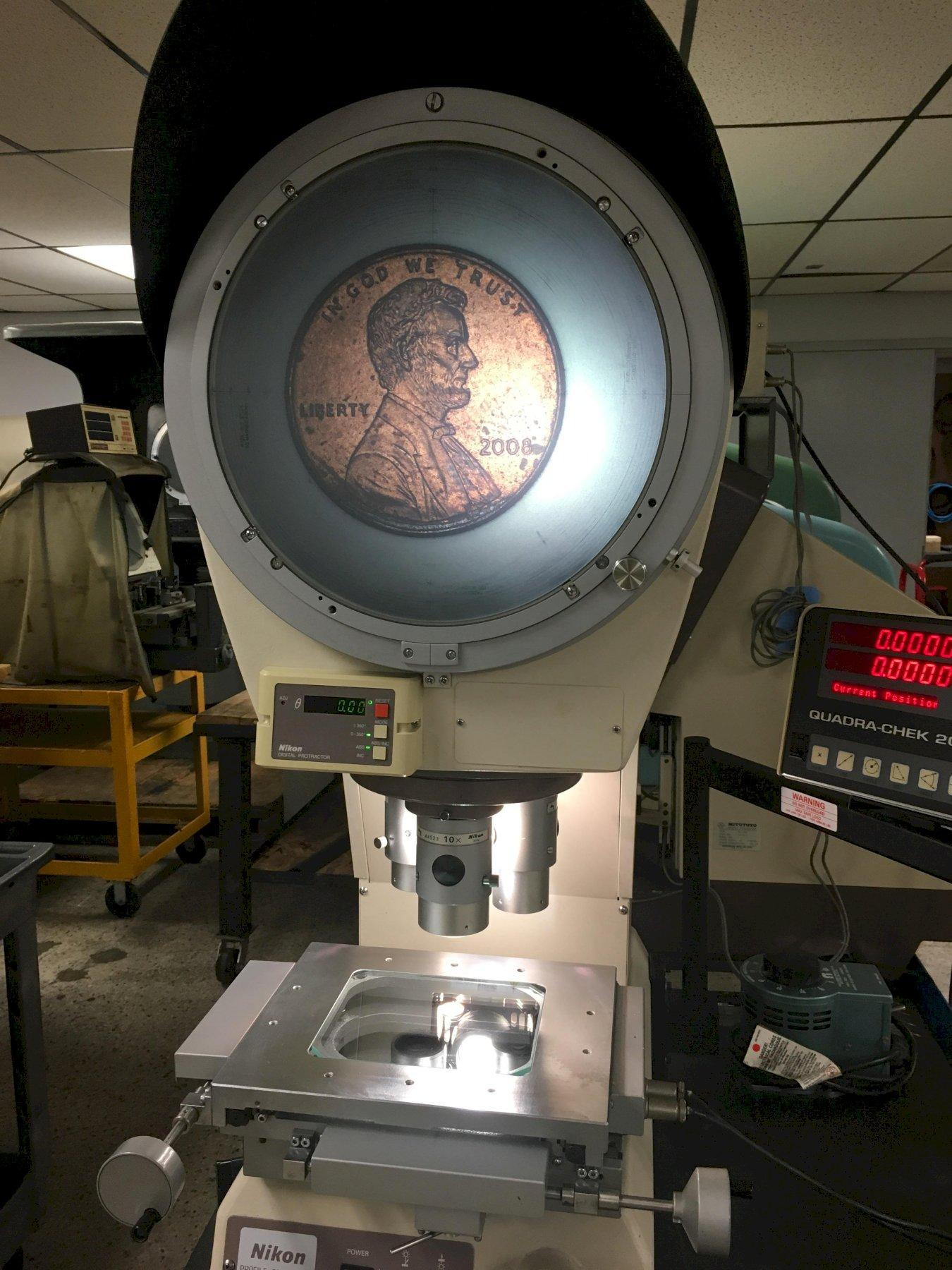 """12"""" NIKON Model V-12BD Bench Top Vertical Beam Comparator, S/N 1100364, New Approx 1998."""
