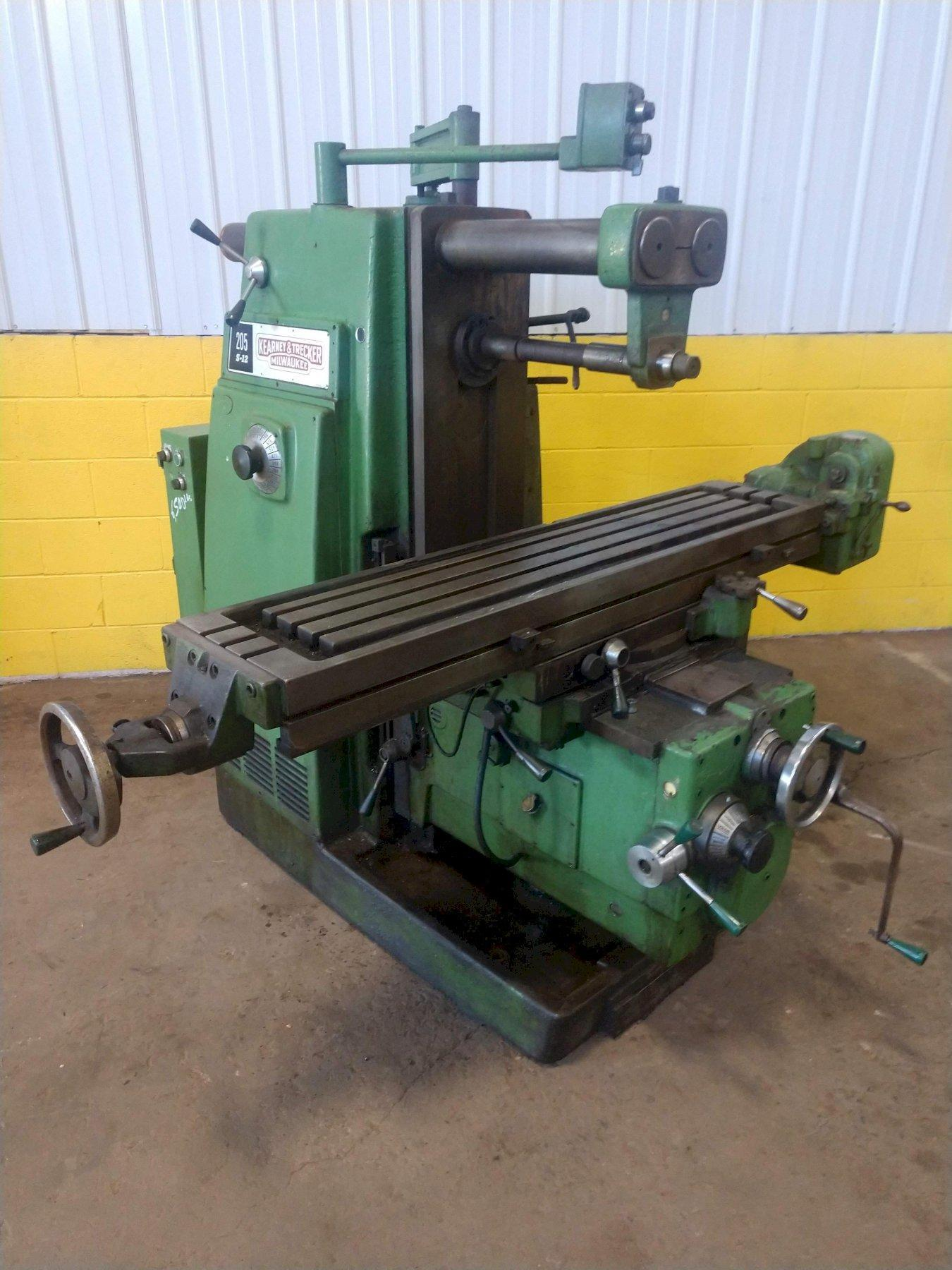 KEARNEY & TRECKER MODEL #205 S-12 HORIZONTAL MILL WITH VERTICAL HEAD ATTACHMENT: STOCK #12910