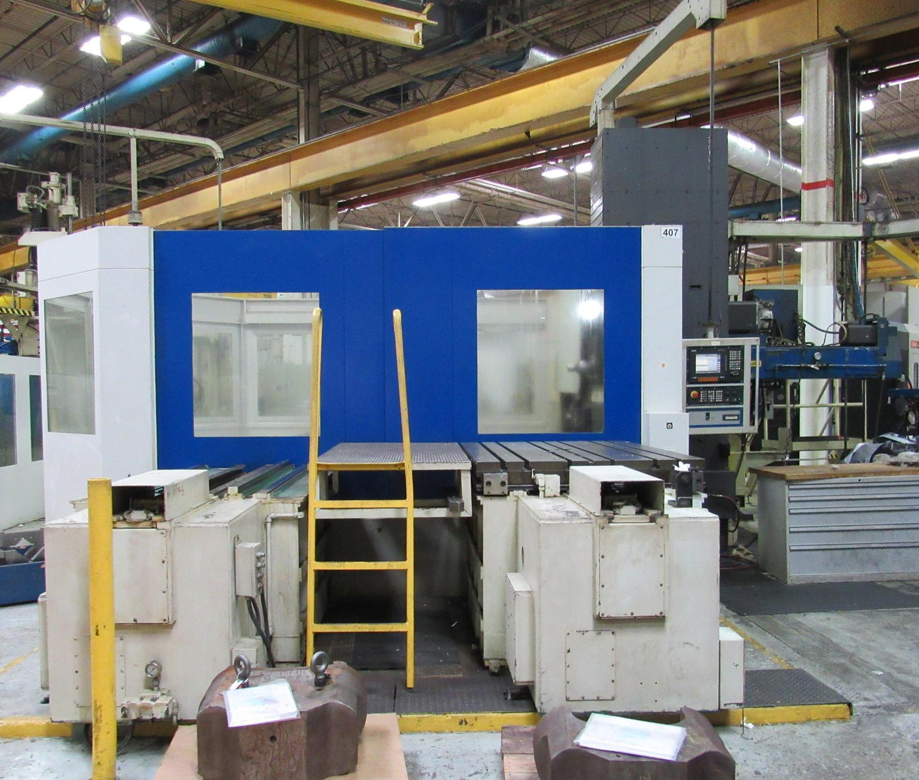 USED, GIDDINGS & LEWIS MODEL G60-T CNC TABLE TYPE HORIZONTAL BORING MILL