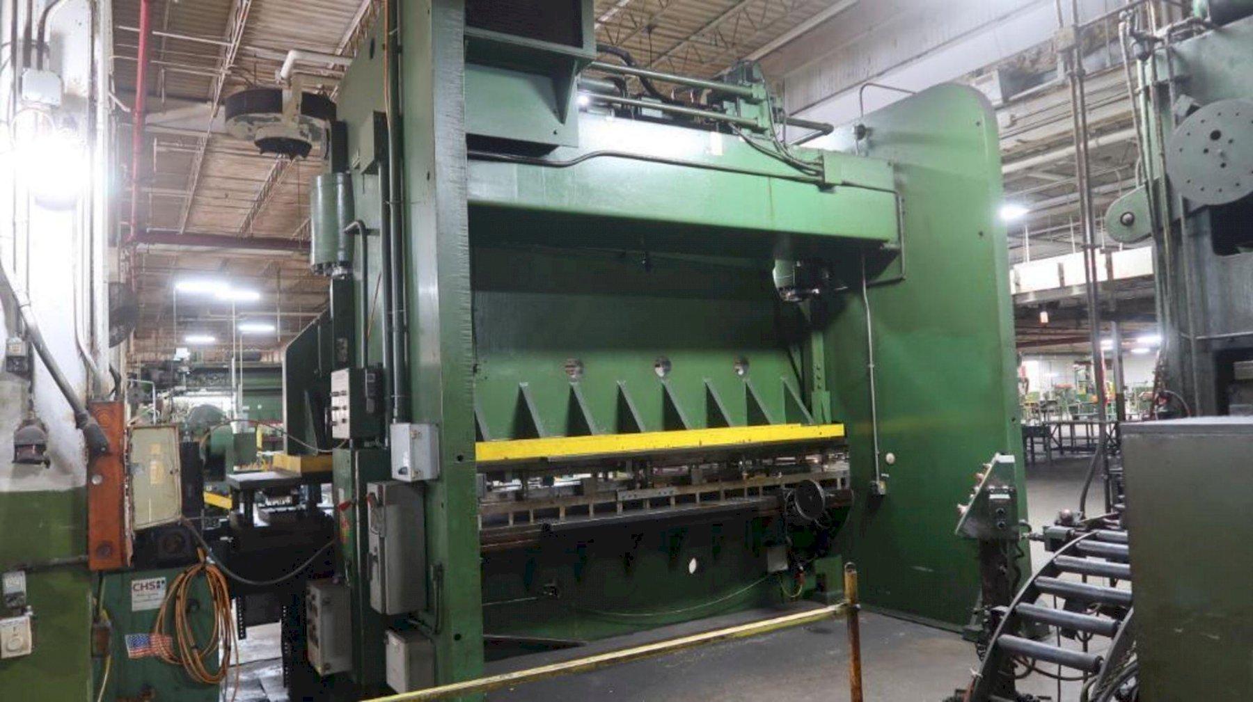 600 ton Cincinnati FormMaster Hydraulic Press Brake, New 1986
