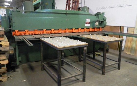 "12' x 1/4"" CINCINNATI #1812 MECH SHEAR, 10' SQR ARM, 36"" FOPBG, SUPPORT ARMS, 1968, (8876)"