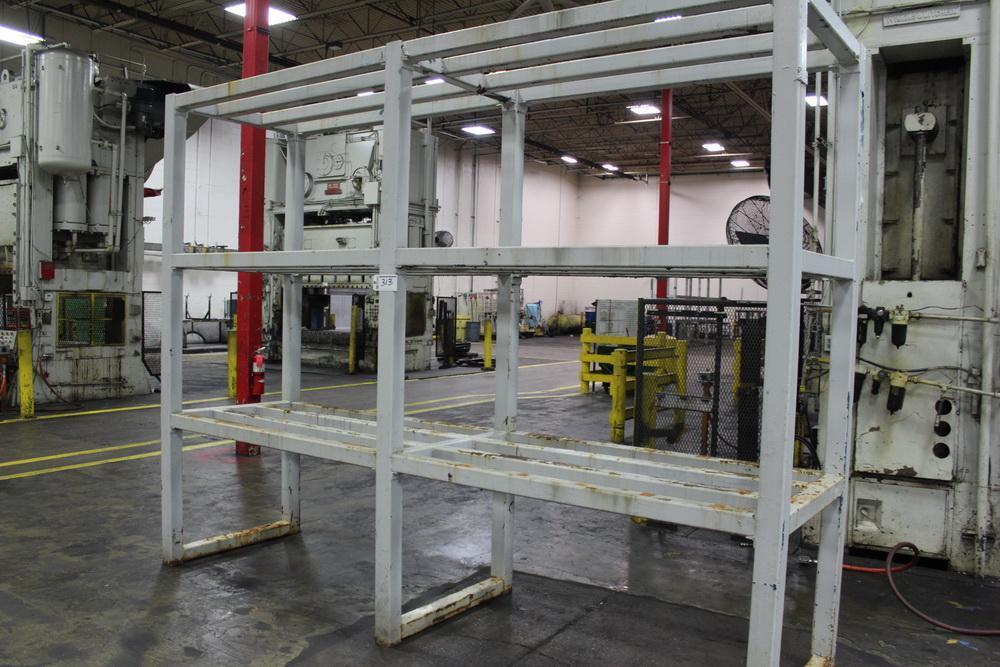 """44"""" x 156"""" 4 Tier Steel Die Storage Rack"""
